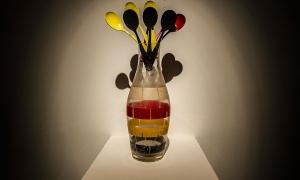 "Ekaterina Sisfontes ""Germany"" Glass, Acril, Spoons"