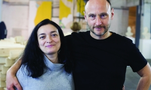 The curators Ekaterina Sisfontes and Andrey Prigov